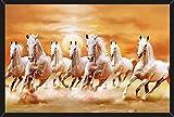 #4: HungOver Running Seven Horses Painting Vastu Poster for Home & Office