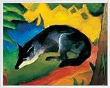 Franz Marc Poster Kunstdruck und Kunststoff-Rahmen - Der Blaue Fuchs, 1911 (50 x 40cm)