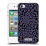 Head Case Designs Offizielle P.D. Moreno Schwarz Purpurrot Muster Ruckseite Hülle für iPhone 4 / iPhone 4S