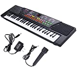 Toykart India 54 Key Electronic and Musical Keyboard Piano with Adapter and Microphone