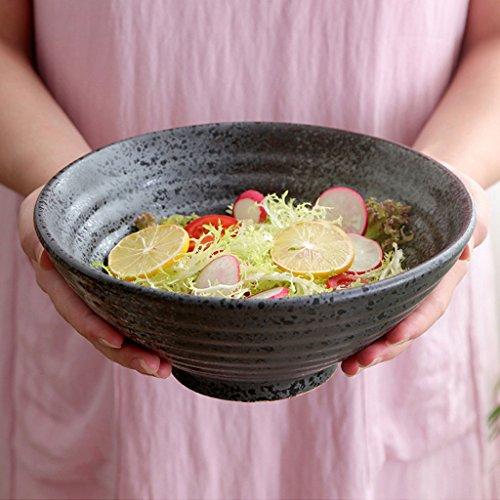 diamètre 23,8 cm Bol à salade de fruits en céramique créative maison rétro bol de ramen couverts bol à soupe