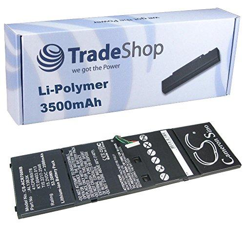 TradeShop Hochleistungs Li-Polymer Akku, 15,2V/3500mAh für Acer Aspire V5-572 V5-572G V5-572P V5-572PG V5-573 V5-573G V5-573P V5-573PG V7-481 V7-481G V7-481P V7-481PG V7-482P V7-581P V7-581PG V7-582P