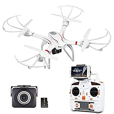 DBPOWER X101C FPV WIFI Drone with HD Camera Headless Mode Live Video Quadcopter Compatible with GoPro Camera and VR Headset by Db Dbpower