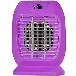 GUO - lámpara del mosquito, hogar sin la radiación mute restaurante de interior choque eléctrico mosquito, photocatalyst llevó bebé dormitorio de la mujer embarazada Anti-mosquito lámpara / (18.5 * 25CM) (púrpura)