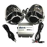 600 Watt marine motorcycle / Boat / UTV Speaker Amplifier System Color: Chrome