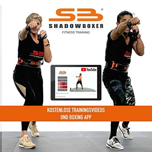 Shadowboxer Home Fitness System, schwarz, mit kostenlosen Trainingsvideos, HIIT Cardiotraining (Wohnung Boxsack)