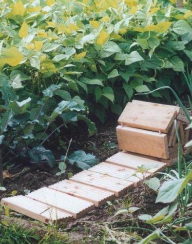 Rollweg für Gartenbeet Holz-Gartenweg