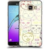Head Case Designs Chats Doodle Tout Pastels Étui Coque en Gel molle pour Samsung Galaxy A3 (2016)