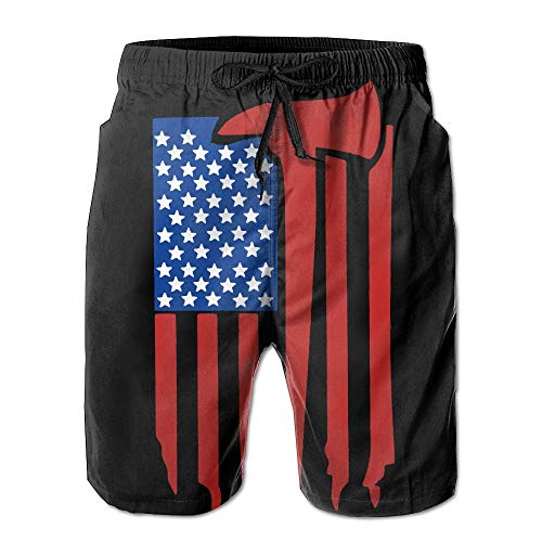 Nisdsh Dilly Dilly American Flag Men's Casual Shorts Swim Trunks Fit Performance Quick Dry Boardshorts XX-Large Custom Fit Mesh Rugby
