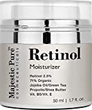 Retinol Cream From Majestic Pure for Face and Eye Area Will Nourish Your Skin, Potent Anti Aging Formula Reduces the Appearances of Wrinkles, Stretch Marks & Redness, 50ml by Majestic Pure