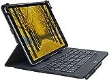 Logitech 920-008336 - Funda con teclado para tablets de 9 a 10 pulgadas (compatible con Apple, Android, Windows, teclado integrado Bluetooth 3.0), color negro [QWERTY Español]