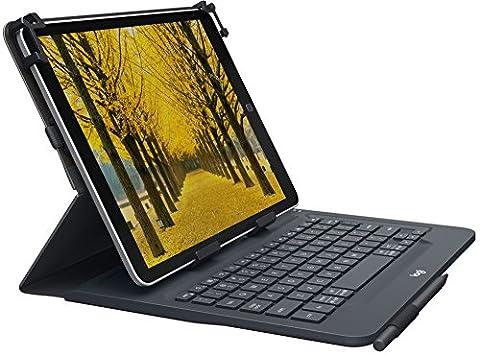 Logitech Universal Folio mit integrierter Bluetooth 3.0-Tastatur (für Apple-, Android- oder Windows-Tablets mit 9–10 Zoll-Diagonale, QWERTZ, German