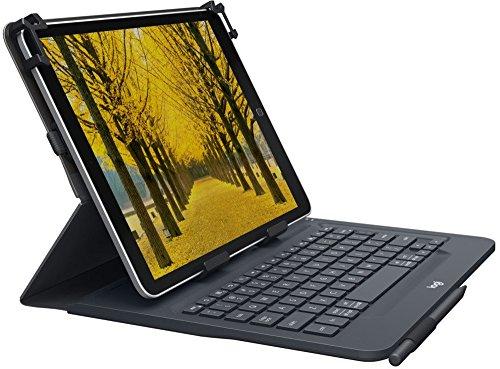 Logitech Universal Folio mit integrierter Bluetooth 3.0-Tastatur (für Apple-, Android- oder Windows-Tablets mit 9–10 Zoll-Diagonale, QWERTZ, German Tastaturlayout)