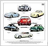 Classic Porsche 356Fine Art Print–- Speedster, Carrera, 356A & Coupe. Fertig zum Rahmen.