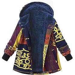Abrigos Mujer Tallas Grandes Invierno,EUZeo Rebajas,Cálido Impreso Chaqueta Vintage Hoodie Coat Suelto Parka Túnica Moda Jacket Fiesta Outwear Casual Capa Elegante Pullover