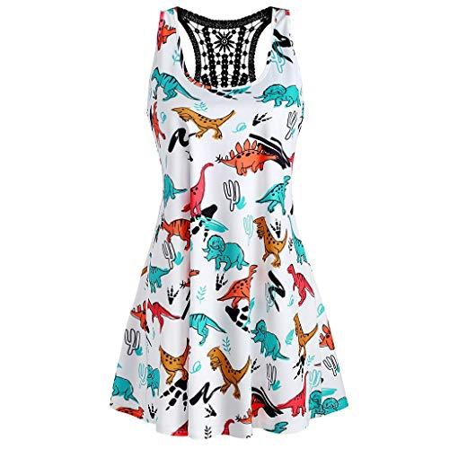 1950er Rockabilly Kleid Spitzenkleider Polka Dots Retro Vintage Petticoat Kleider Faltenrock(Weiß-3,XX-Large) ()