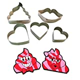 Smooch Lips and Hearts Cookies Cutters S...
