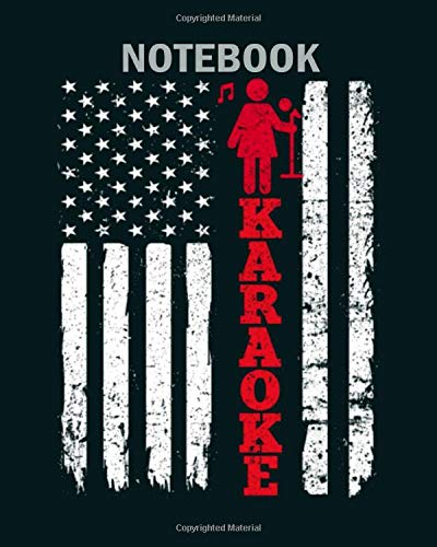 Notebook: usa karaoke flag1 - 50 sheets, 100 pages - 8 x 10 inches