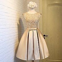 Vestidos de novia dorados cortos