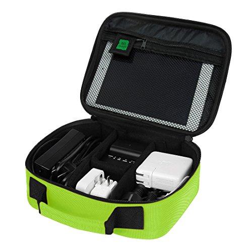 Bagsmart custodia da viaggio universale per dispositivi elettronici e accessori organizer da viaggio per cavi verde