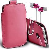 "Asus Zenfone 4 Selfie ZD553KL (5.5"") - Protective Kunstleder Pull Tab Stilvolle Einbau Beutel Hülle & Premium-Qualität aus Aluminium In-Ear-Ohrhörer Stereo-Freisprecheinrichtung Kopfhörer Kopfhörer-Kopfhörer mit integriertem Mikrofon Mic & On-Off-Taste - Baby Pink"
