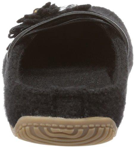 Living Kitzbühel Schmuck und Fußbett Damen Flache Hausschuhe Schwarz (schwarz 900)