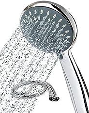 Newentor® Duschkopf mit Schlauch, Duschbrause mit Schlauch 1,5m, Duschschlauch mit Duschkopf wassersparend, Ha