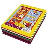 Craft Planet - Juego de planchas de gomaespuma (24 unidades, tamaño A5), varios colores