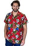 Funky Hawaiihemd, Vogel Kirsche, Rot, S