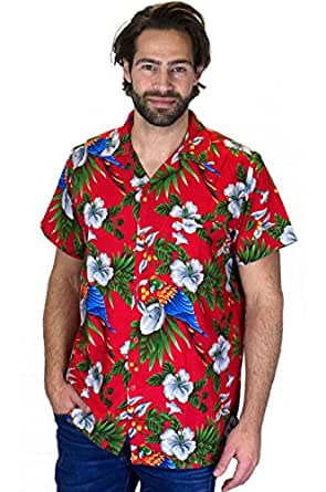 Funky Camicia Hawaiana, Cherry Parrot, red, 9XL