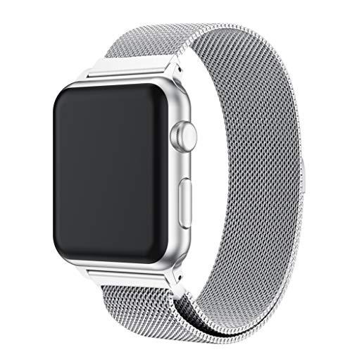 Takkar Ersatzarmband für Apple Watch 38/40mm,modisch, hochwertig und hautfreundlich Milanese Edelstahl Ersatzarmband Smart Watch Armbänder für Apple Watch 1/2/3/4/Series 4/3/2/1 38/40mm (Smart Watch Von Apple)
