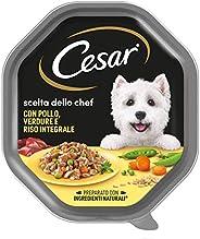 Cesar Scelta dello Chef Cibo per Cane, con Pollo, Verdure e Riso Integrale150 g - 14 Vaschette