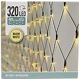 320 LED Lichternetz 3m x 1,5m für außen und innen Lichterkette Lichtnetz Außenbeleuchtung Weihnachtsbeleuchtung (warmweiß)