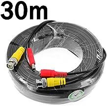 Cable de vídeo para cámaras de vigilancia de circuito cerrado (conectores BNC macho y de alimentación)
