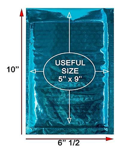Luftpolsterversandtaschen, 5 x 9 cm, 20 Stück Gepolsterte Briefumschläge, 5 x 9 cm, Blaugrün Hochwertige, laminierte Versandtaschen zum Verpacken und Verpacken. Großhandelspreis. (Umschläge 4x6 Gepolsterte)