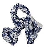 #9: Girl's Floral Print 100 % Cotton Face Scarf ( Size- 100 X 100 Cm)