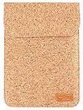 SIKAI Vegane Laptoptasche, Notebooktasche aus Kork. Hellbraun beige. 10-11 Zoll. Geeignet für iPad, MacBook, Tablet, Ultrabook, Sleeve, Case, Schutzhülle