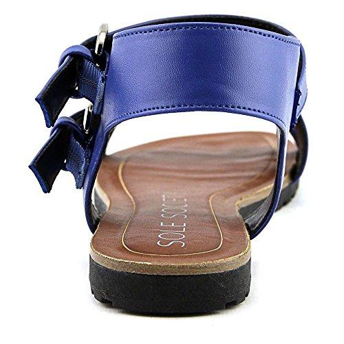 Sole New Blue Sandale Slingback Rund Society Sura Kunstleder rq0frY