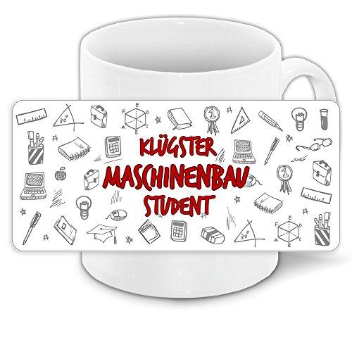 Tasse für-Studenten mit Motiv – Klügster Maschinenbau-Student – | Studenten-Geschenk | Studenten-Tasse