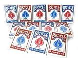 Paket von 12 Pokerkarten Bicycle Standard