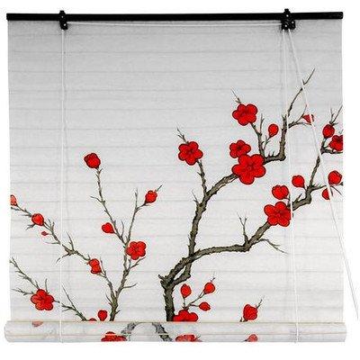 ORIENTAL FURNITURE Oriental Möbel Cherry Blossom Shoji Jalousien–(36in. x 72in.) (Horizontal-jalousie)
