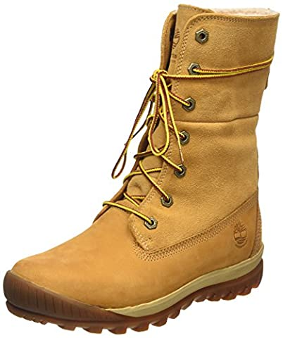 Timberland Women's Mount Holly FTW_Woodhaven Fleece Roll Down WP INS Cold Lined Snow Boots Short Shaft Boots & Bootees Brown Size: 41 EU (7 UK)