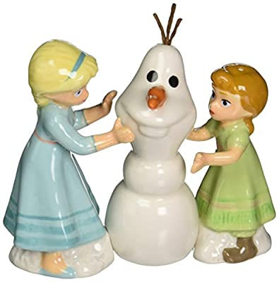 Disney Frozen Elsa and Anna Build a Snowman Salt and Pepper Shakers by Westland Giftware
