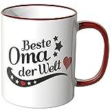 Wandkings® Tasse, Spruch: Beste Oma der Welt - ROT
