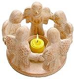 Kreis der Freundschaft mit 5 Engeln, original Handarbeit aus Bali, Teelichthalter, Kerzenhalter