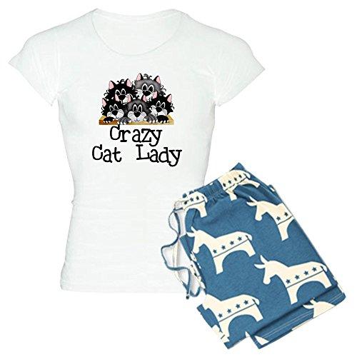 CafePress Crazy Cat Lady Damen-PJs Gr. XX-Large, with Democrat Pant
