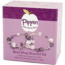 Pippin Classics Aqua - Kit para hacer 2 pulseras de cuentas