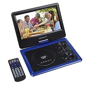 """DBPOWER® 9.5"""" Lettore DVD portatile con display inclinabile, Massimo support con schede SD, pennette USB e riproduzione diretta di MP4/AVI/RMVB/MP3/JPEG (Blu)"""