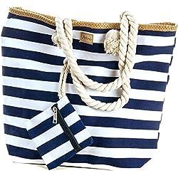 MC-Trend - Bolsa de playa de Lona Mujer azul azul
