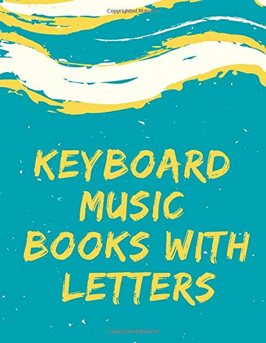 keyboard music books with letters: Blank Sheet Music Composition and Notation Notebook /Staff Paper/Music Composing / ... pads blank/writing pads punched(Size 8.5x11)